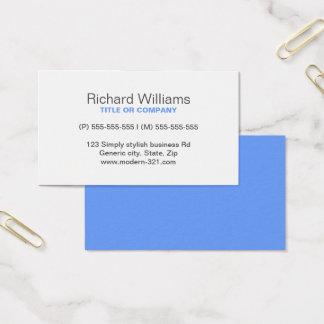 Personnel élégant simple générique moderne bleu cartes de visite