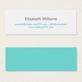 Personnel élégant simple générique moderne bleu mini carte de visite