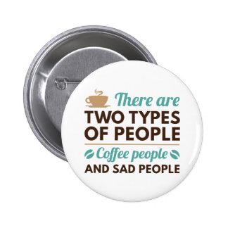 Personnes de café badges