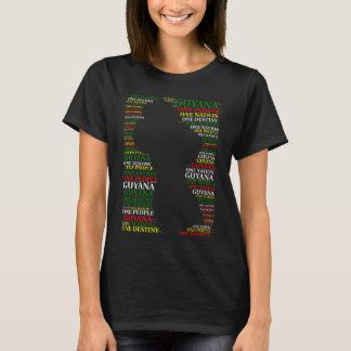 Personnes de la Guyane une un T-shirt de destin de