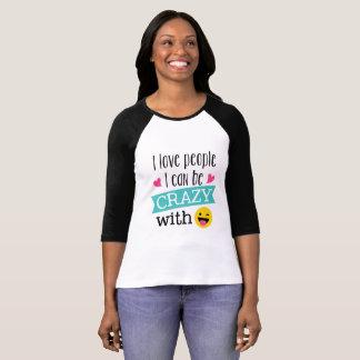 Personnes folles Emoji d'amour T-shirt