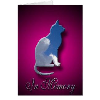 Perte de carte de sympathie de chat