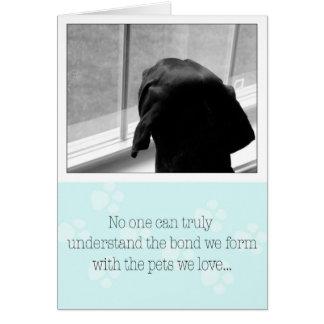 Perte de chien de carte de sympathie de chien