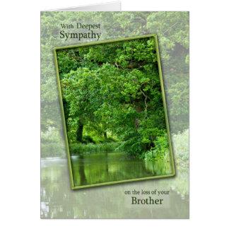 Perte de sympathie de frère, scène tranquille de cartes