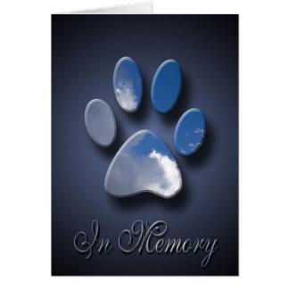 Perte de sympathie de la mort d'animal familier de carte de vœux