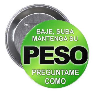 Peso de Baje Suba Mantega Su, bouton de Preguntame Badge