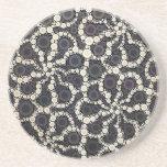 Pétales Brown noir Tan de fleur de mosaïque Dessous De Verres
