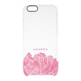 Pétales de pivoine d'aquarelle de roses indien coque iPhone 6/6S