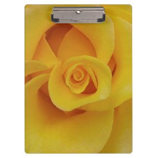 Pétales de rose jaunes romantiques porte-bloc