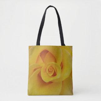 Pétales de rose jaunes romantiques sac