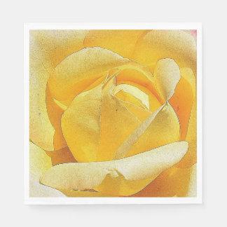 Pétales de rose jaunes serviette en papier
