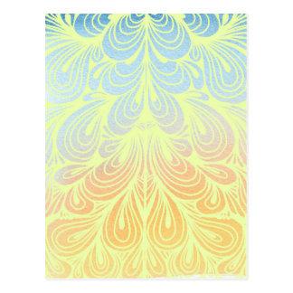 Pétales psychédéliques de fleur cartes postales