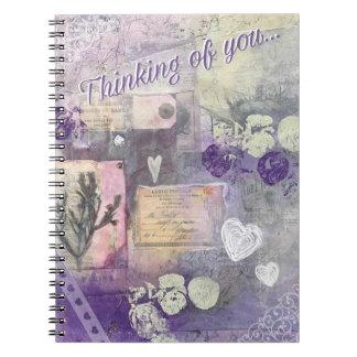 Pétales violets - pensant à vous - journal