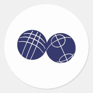 Petanque de Boule Sticker Rond