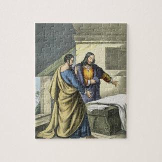 Peter et John à la tombe, d'un prin de bible Puzzle