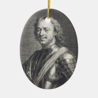Peter I le grand Ornement Ovale En Céramique