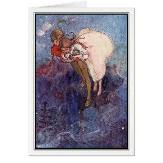 Peter Pan et Wendy par Alice B. Woodward Carte De Vœux