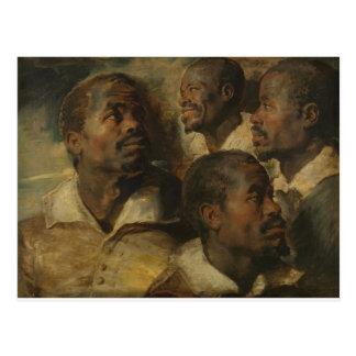 Peter Paul Rubens - quatre études Carte Postale