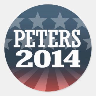 PETERS 2014 ADHÉSIFS RONDS
