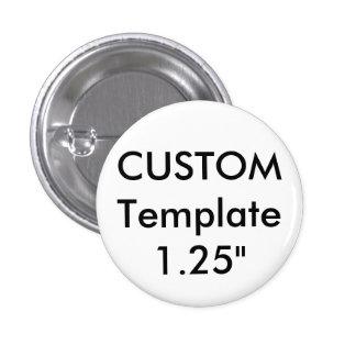 """Petit 1,25"""" Pin ronds fait sur commande de bouton Badges"""