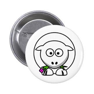 Petit agneau badge avec épingle