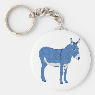 Petit âne d'Eddie pas vraiment bleu Porte-clé Rond