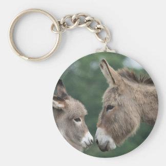Petit âne porte-clé rond