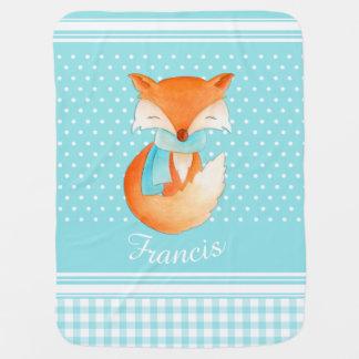 Petit animal de Fox avec la couverture de bébé de