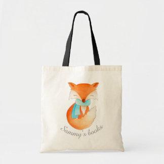 Petit animal de Fox dans le sac de bibliothèque