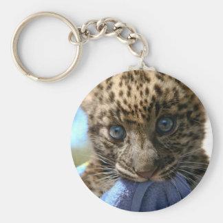 Petit animal de léopard porte-clés