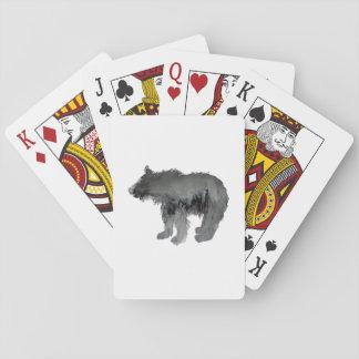 Petit animal d'ours jeu de cartes