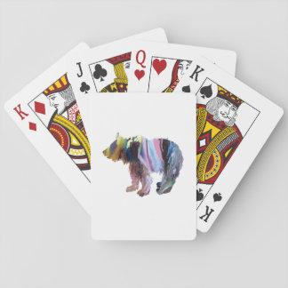 Petit animal d'ours jeux de cartes