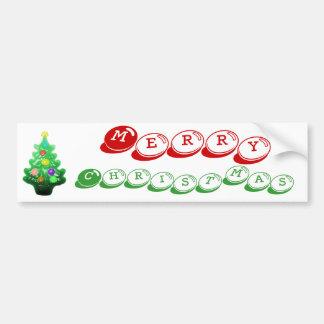 Petit arbre de Noël mignon Autocollant De Voiture