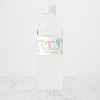 Petit baby shower de vêtements étiquette pour bouteilles d'eau