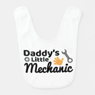 Petit bavoir de bébé du mécanicien du papa