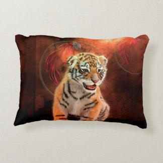 Petit bébé mignon de tigre coussins décoratifs