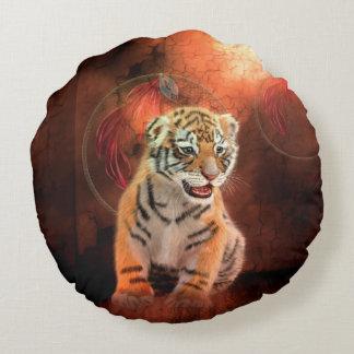 Petit bébé mignon de tigre coussins ronds