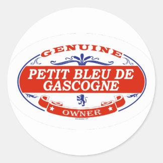 Petit Bleu De Gascogne Sticker Rond