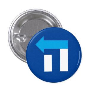Petit bouton d'hébreu de Hillary hé - bleu/blanc Badges