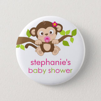 Petit bouton mignon de baby shower de fille de badges