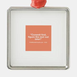 Petit cadeau de l'entrepreneur 121 - Commt Ornement Carré Argenté