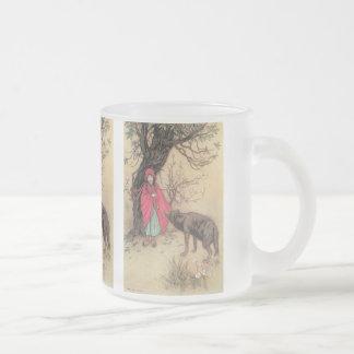 Petit capuchon rouge vintage par Warwick Goble Mug En Verre Givré