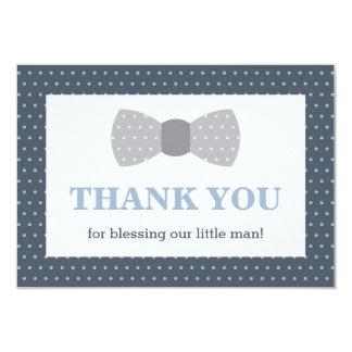 Petit carte de remerciements d'homme, bleu marine, carton d'invitation 8,89 cm x 12,70 cm
