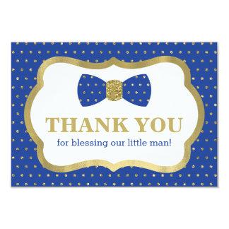 Petit carte de remerciements d'homme, bleu royal,