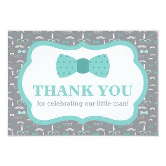 Petit carte de remerciements d'homme, cravate