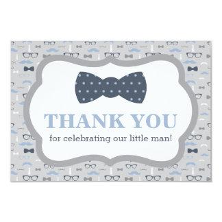 Petit carte de remerciements d'homme, cravate carton d'invitation 8,89 cm x 12,70 cm