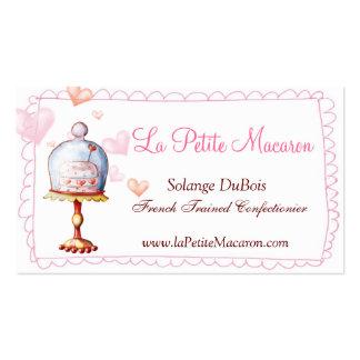 Petit carte de visite de Macaron de La