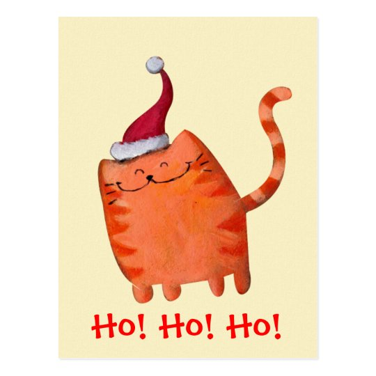 Petit chat mignon de Noël Cartes Postales
