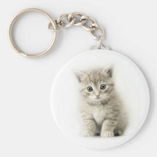 petit chat porte-clé rond
