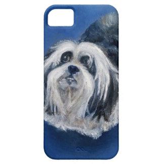 Petit chien espiègle noir et blanc coque Case-Mate iPhone 5